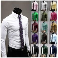 men solid color shirt.